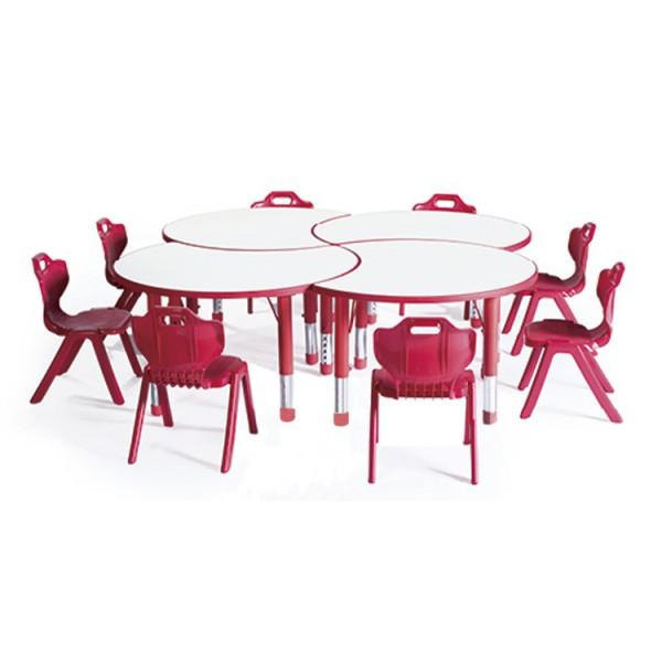 兒童半圓形可拼桌子