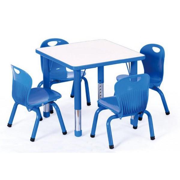 不銹鋼可升降防火板正方桌